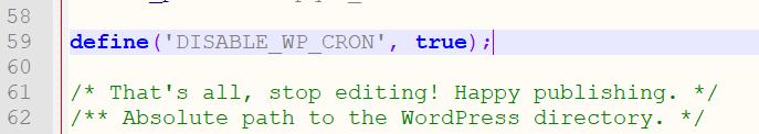 WordPress wp-cron deaktivieren